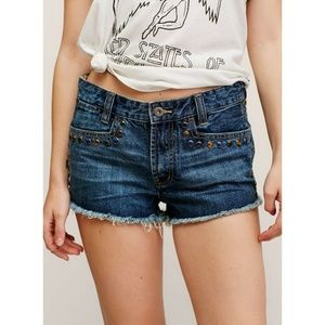 New Free People Short & Sweet Denim Cutoff Shorts